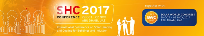 SHC 2017: Save the Date - October 29 - November 2, 2017 - Abu Dhabi, UAE